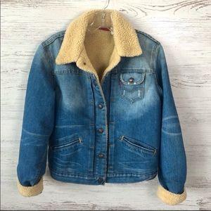 LEVI's Vintage 90s Shearing Lined Denim Jacket